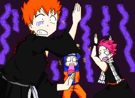 Anime Crossover Bleach Fairy Tail and Naruto by 0Eka0