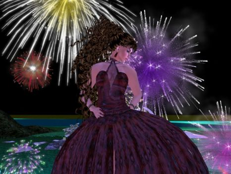 Set Da Nite on FIRE by BevAnnieEnchanted