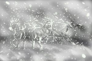 In The Snow by darkwolfhowling