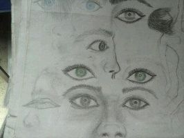 Facial, Eyes, Mouth, and Mascara Sketching by DorkaliciousRisa