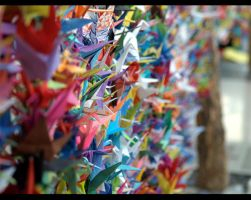 1000 Paper Cranes by ChocolateDecadence