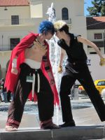 Kamina vs. Kittan 2 by TheSapphireDragon1