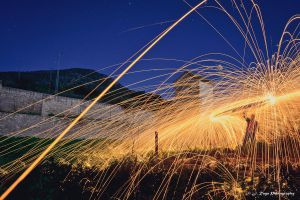 Fireworks at the abandoned country estate. by Taro1984
