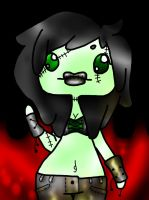 Zombie Makeup Girl Thing! by rayne-storme