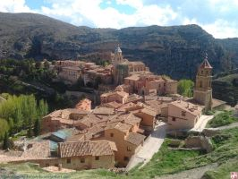 Albarracin from the wall 2 by kawano-katsuhito