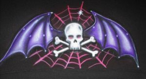 Skull-Wings-Airbrush by vampireheartagram27