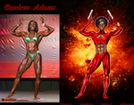 Candrea J Adams is Misty Knight By Ulics by zenx007