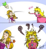 Zelda vs Peach by BorieBorie