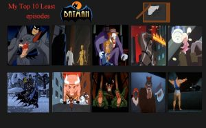 Jefimus Top 10 worst(-ish) Batman TAS Episodes by JefimusPrime