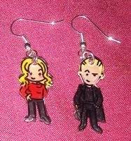 Cute Buffy and Spike earrings by Lovelyruthie
