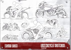 Motorcycle Sketches by Samirs