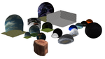 MMD Random Pack of Stages and Domes by mbarnesMMD