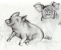 Pigs by GigglyArtGurl