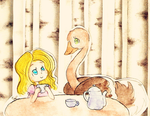 Tea With My Pet Ostrich by ChiuuChiuu