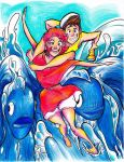 Water Skiing PONYO STYLE by pocket-picasso