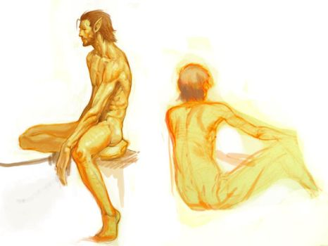 life drawing of elf by jasson78