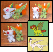 Sybil and Laetus Dragon Plushies by Mlggirl