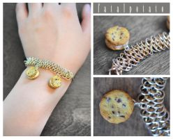 cookie chainmail bracelet by FatalPotato