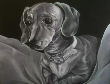 Low-res painting Dacshund by ash-55