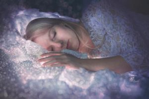 (I will never stop) Dreaming. (self-portrait) by MiriamPeuser