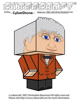 Cubeecraft - The 3rd Doctor by CyberDrone