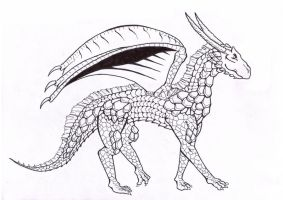 Armored dragon by Mosaic00