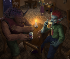 WoW: The World's End tavern by gerberaMF