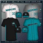 Miami Marlins Uniform Set by JayJaxon