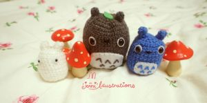 Totoro Crochet set by lolita-candy-bear