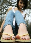 Giantess girl in flip flop toe crush by massiveGTS