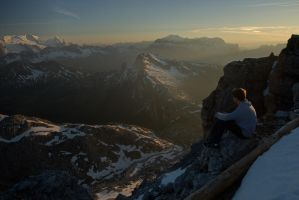 Italian Alps Sunset by Camel51