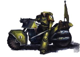 Imperial Fists Bike by MasterAlighieri