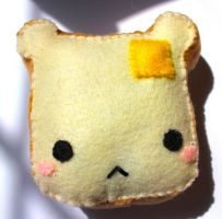 Bear buttered Toast Plush by PinkChocolate14