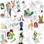 Doodles 7 Smol boring pictures by xXCaramelAuroraXx