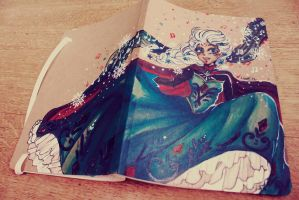Elsa - Frozen [Custom notebook] by Loorae