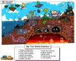 Great Sky Taxi World Map and Creatures by alexmakovsky