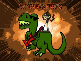 1000 pageviews equals awesomes by Zortov
