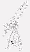 Lord Knight Lineart by timelessleap