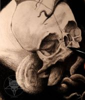 Foetal skull with tentacles by AndreySkull