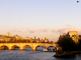 pont in paris at noon by paujas
