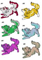 Wolf Adoptables by FoxDemon12