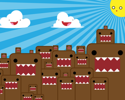 Domo-kun Wallpaper by redcodefinal