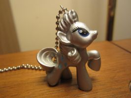 My Little Pony FIM Metallic Rarity Necklace by colbyjackchz