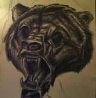 Scary Bear by artactivist
