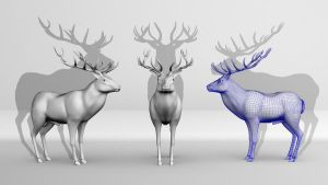 Red-Deer by Kiecks