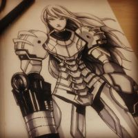metroid for inktober by jrlalas