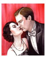 Downton's Lady Mary and Matthew Crawley by thedanika