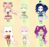 Lolita/Neko Adoptables - 250 points [CLOSED] by Kawaiiipoop