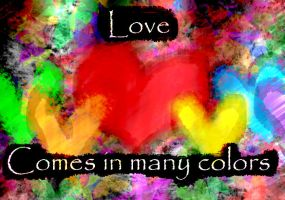Love comes in many colors by Nakario