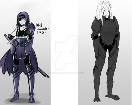 Some armor sketches by lonelyonafriday